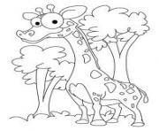 Print big eyed giraffe animal s43ed coloring pages