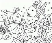rainbow fish s of sea animalsf3b1 coloring pages