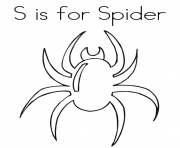 Print spider animal alphabet 66e1 coloring pages