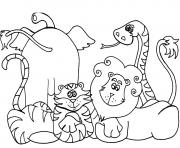 Print african animal s8031 coloring pages