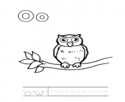 animal owl alphabet scd56 coloring pages