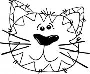 abstract cat animal s0c5b coloring pages