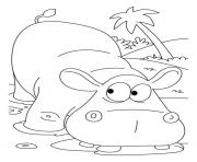 Print hippopotamus african animal scd1a coloring pages