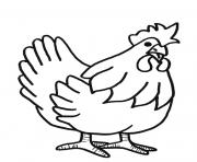 Print a hen farm animal s freeaf84 coloring pages