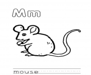 free alphabet s mouse animald76b coloring pages