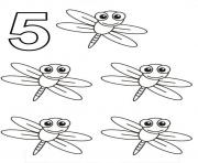 five dragonfly s of animalsf27a coloring pages