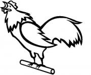 Print farm animal s free roostere1cc coloring pages