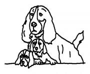 three lazy eyed dogs animal coloring pagesb73a