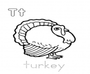 animal turkey alphabet d0ed coloring pages