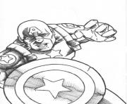 Captain America Sketch 5e1a coloring pages