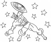 Print Captain America Between Stars 8197 coloring pages