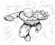 Fighting Iron Man 37dc coloring pages