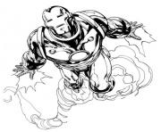Flying Iron Man 062a coloring pages