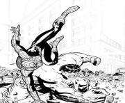 Print spiderman and hulk sd88d coloring pages