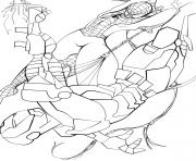 Print spiderman and ironman sf806 coloring pages