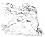 Free Fighting Sketch Iron Man f2a7 coloring pages