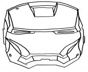 Print iron man face s9302 coloring pages