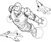 Print iron man flying s6c1b coloring pages