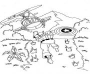 Print Captain America Chasing Helikopter ca15 coloring pages