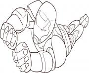 Free Flying Iron Man 40b6 coloring pages
