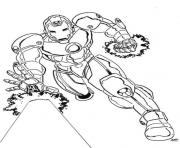 fighting Iron Man 3adf coloring pages