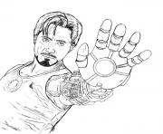 Print Tony Stark Coloring Page For Boysaed6 Pages