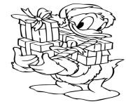 donald duck with christmas presents disney sf801