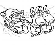 Printable santa kid s christmase81e coloring pages