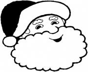 smiling santa claus s78d7 coloring pages