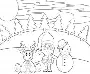 reindeer santa and snowman christmas s printable3c57