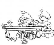 printable s christmas elves workingfb03 coloring pages