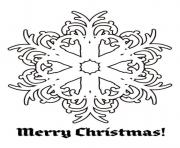 Printable snowflake merry christmas free s for christmasfbd6 coloring pages