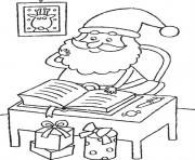 Printable checking present lists santa f2c9 coloring pages