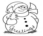 snowman free christmas s9400 coloring pages