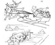 Printable santa and his sleigh free s for christmas76db coloring pages