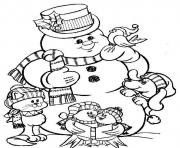 snowman s to print for christmas426a coloring pages