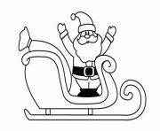 Printable coloring pages of santa claus and his sleighb228 coloring pages