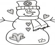 Printable free christmas s snowman printable51d3 coloring pages