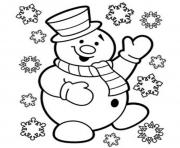 Printable free snowman kid s christmasf860 coloring pages