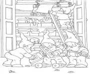 free s christmas elves5471 coloring pages