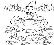 Printable coloring pages of christmas patrick present59e4 coloring pages