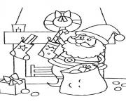 Printable coloring pages of santa claus putting a candy cane into stocking47f1 coloring pages