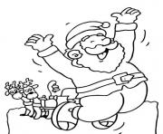 Printable happy santa  free2e63 coloring pages