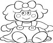 Printable christmas  doll for present54f2 coloring pages