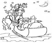 Printable christmas s printable santa and his sleighac93 coloring pages