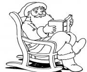 santa reading printable s christmas345a coloring pages