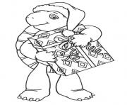 Printable franklin with christmas present 5b78 coloring pages