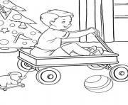 christmas  present for little boyd123 coloring pages