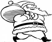 coloring pages of santa claus and his presentsa574 coloring pages
