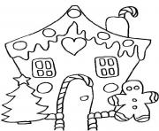 gingerbeard man and house free s for christmas0111 coloring pages